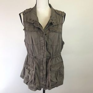 Maurices Army Green Utility Vest 14W